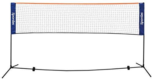 Unbekannt Badminton Netz / Breite: 5 m / Höhe: 1,55 m / Material Teleskopstangen: robuster Stahl / Gewicht: 2,5 kg / inkl. Transporttasche