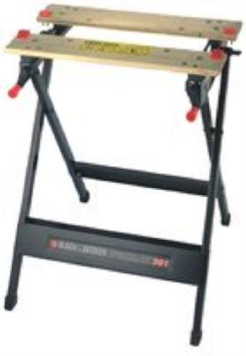 Black & Decker WM301 - Bancos de trabajo (Bambú, Acero, Negro, 341 mm, 760 mm)
