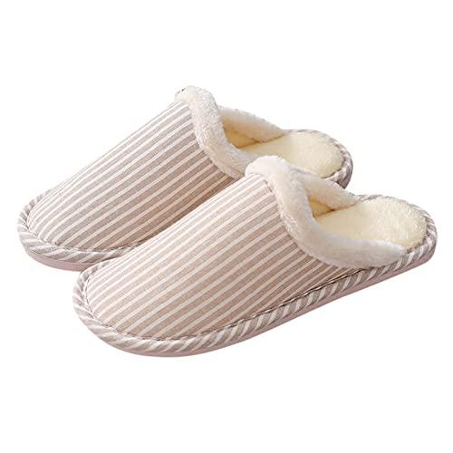 Hombre Mujer Moda Diario Interior Hogar Zapatos Zapatillas De AlgodóN De Suela Blanda Zapatos CáLidos Y CóModos