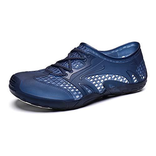 Watermelon Zuecos Sandalias for Hombres Estirar con Estilo Malla Zapatos de Agua de Secado rápido Expertos en lengüeta con Suela Súper Flexible (Color : Blue-Sapphire, tamaño : 45 EU)