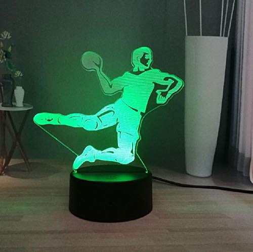 3D led-nachtlampje usb sport serie karakter gooien de bol frameloos 7 kleuren veranderende nieuwe decoratie tafellamp jongen vakantie verjaardagscadeau, app mobiele telefoon bluetooth afstandsbediening kleur oogbescherming energiebesparende tafellamp