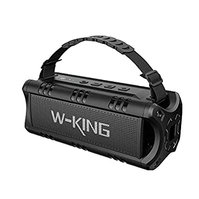 W-KING Bluetooth Speaker, 30W Portable Wireless Speakers Waterproof, 24 Hours Playtime, 5000mAh Battery with Powerful Bass, TWS, NFC, TF Card, USB Playback - Loud Speaker for Home, Party, Outdoor from SHENZHEN WEIKING TECHNOLOGY Co.,Ltd.