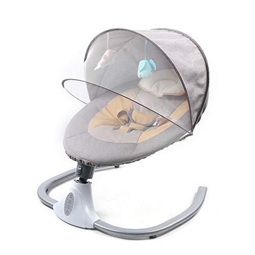 Columpio eléctrico para bebés integrado con 12 música, Bluetooth, USB, columpio eléctrico para bebés, con mosquitera y música
