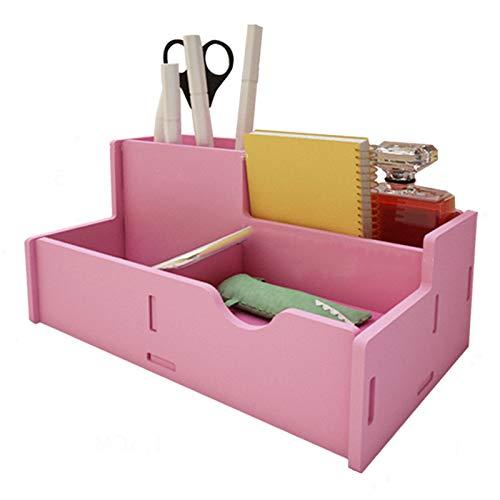 VAST Caja de almacenamiento de tarjetas de visita móvil para escritorio, de 8 cm, 13 cm, 21,5 cm, 21,5 cm, color: rosa