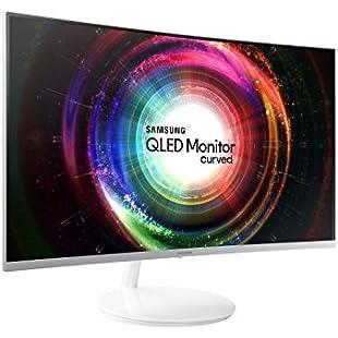 Samsung LC27H711QEUXEN 27-Inch WQHD 2560 x 1440 3 Side Bezel-Less Curved Monitor - Metallic Silver:Kisaran