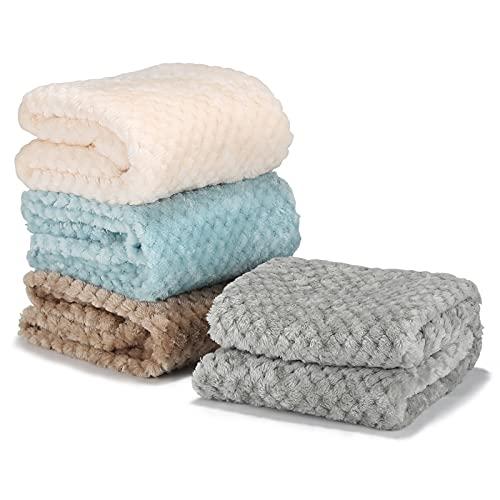 4枚セット ペット 毛布 ブランケット マット 犬猫用 ベッド ふわふわ 暖かい 防寒 保温