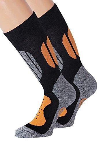 KB Socken Skistrümpfe Skisocken Ski Wandersocken Laufsocken Sportsocken Trekkingsocken 35-38 39-42 43-46 47-50 1 Paar-8 Paar (47-50, Orange)