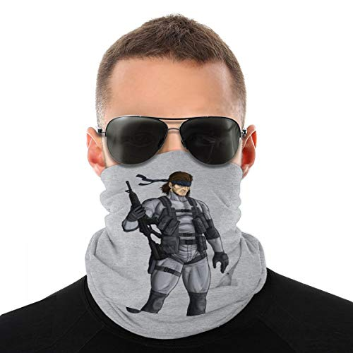 NBUQSG Metal Gear Solid 2 Snake Variety Head Scarf Face Mask Magic Headwear Neck Gaiter Face Bandana Scarf