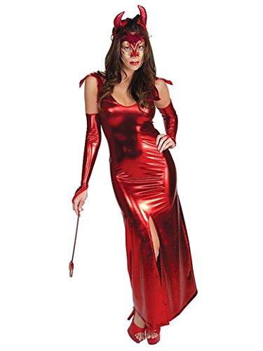 GGTBOUTIQUE Top Totaal Rood Lange Duivel Holloween Kostuum