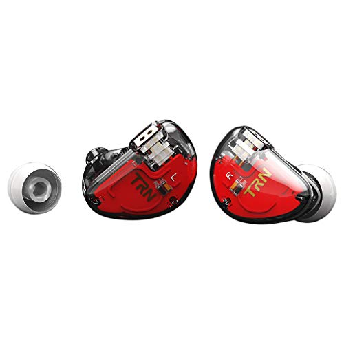 Ear HIFI SIX-Unit Ring Eisen Kopfhörer Telefon Mobiles Subwoofer-Fernbedienungs-Headset (ohne Weizen) (klar)