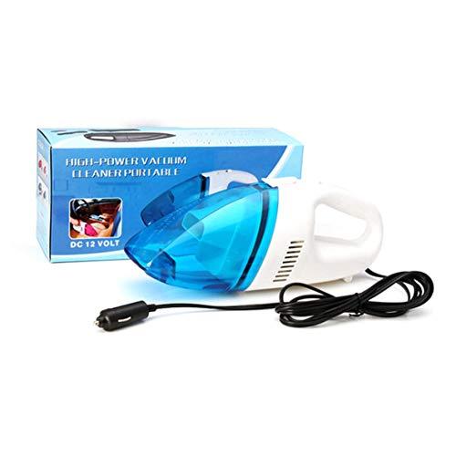 Aspirador de coche, pequeño azul y blanco, aspirador de coche mojado y seco, aspiradora de coche, encendedor de cigarrillos
