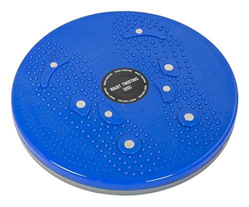 chi-enterprise robuster Twister für Chi-Maschinen I stabiler Drehteller für Chi-Massage-Geräte I Chi-Regenerator für Schwing-Massage & Meridiane des Körpers I Drehscheibe blau Durchmesser 24,8 cm