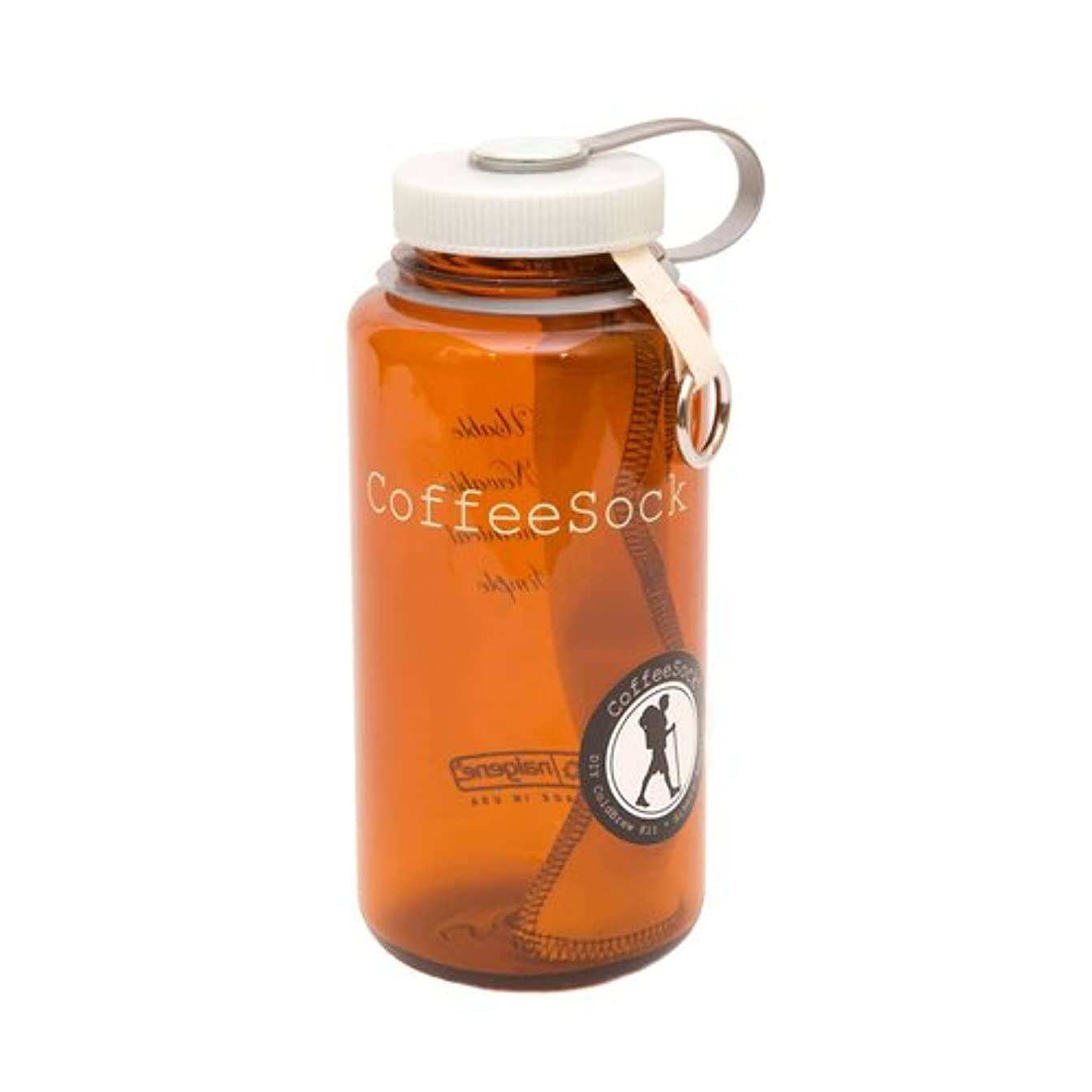 CoffeeSock DIY Hikers Edition ColdBrew Kit - GOTS Certified Organic Cotton Reusable Coffee Filters.