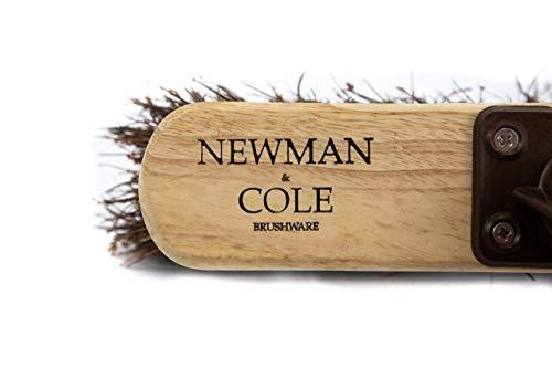 Newman and Cole 30,5 cm Holzbesenkopf mit steifen Borsten aus natürlichem Harthaar – Ersatz-Holzbesenkopf für den Außenbereich, Garten, Hof, Kehrbesen – Holzbürstenkopf mit Befestigungsbügel - 5