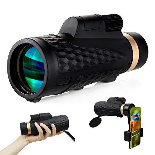 trounistro Monokular Teleskop, 16 X 50 HD Mehrschichtbeschichtung Monokular, BAK4 Prisma Teleskop mit Smartphone Adapter für Vogelbeobachtung, Wandern, Sightseeing, Konzert, Ballspiel