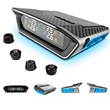 STEEL MATE Tire Pressure Monitoring System for Car - Solar Charge, Carbon...