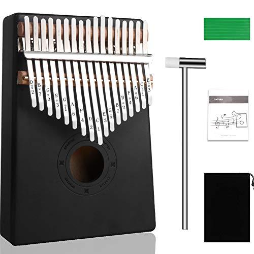 Kalimba 17 Schlüsse, Gadom Kalimba Daumenklavier Instrument Professionelle Finger Daumen Piano mit Lernanleitung und Stimmhammer für Kinder Erwachsene Anfänger
