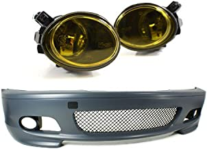 PROMOTORING For 00-06 BMW E46 3-SERIES 2DR M-TECH II STYLE FRONT BUMPER w/YELLOW FOG LIGHTS