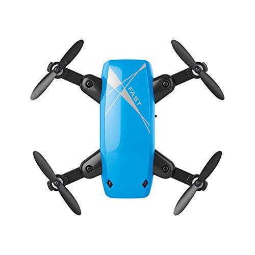 Mallalah S9HW Mini Drone con cámara HD S9 plegable RC Quadcopter altitud helicóptero WiFi FPV Micro bolsillo Dron No Cámara size No Cámara (Azul)
