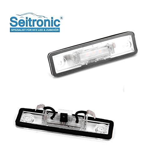 Hochwertige Premium LED Kennzeichenbeleuchtung, 2 Module passgenau für Ihr Fahrzeug, Abnahme frei, sehr hell mit E-Prüfzeichen.