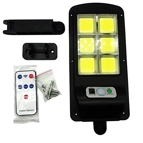 Aplique de pared LED, Aplique de pared LED con detector de movimiento PIR Inducción del cuerpo humano impermeable + Control de luz + Control remoto Luz exterior COB * 6