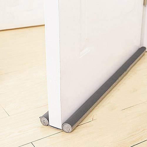 WILLBAN - Tope para puertas en color gris - Se puede cortar a medida - Protección de doble cara contra corrientes de aire - Tira flexible de sellado para la parte inferior de la puerta
