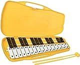 Carrillón - metalofono AX27N xilófono soprano de 25+2 teclas blancas y negras cromático Rockstar...