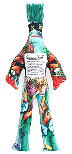 Dammit Doll - Limited Edition Save The Rainforest - Teal Green Hair Environmental, Stress Relief, Gag Gift