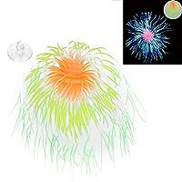 人工珊瑚植物、装飾用水槽用の自由に耐久性のある持続効果シミュレーション珊瑚を振る(green)