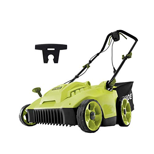 Sun Joe MJ506E 16 in 6.5 Amp Quad Wheel 24 Blade Electric Reel Lawn Mower w/ Grass Catcher