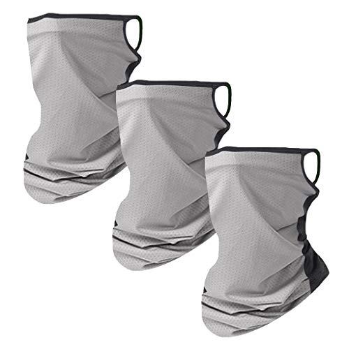 Best Deals! HunYUN 3Pcs Safe Protect Cotton Mouth Shield Unisex Rave Bandana Neck Gaiter Tube Headwe...