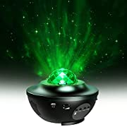 Star Projector, MiiKARE 2 in 1 Night Light Projector Adjustable Lightness Starry Light and LED Nebula Cloud with Remote Control & Built-in Music Player for Kids Bedroom Living Room Home Theatre