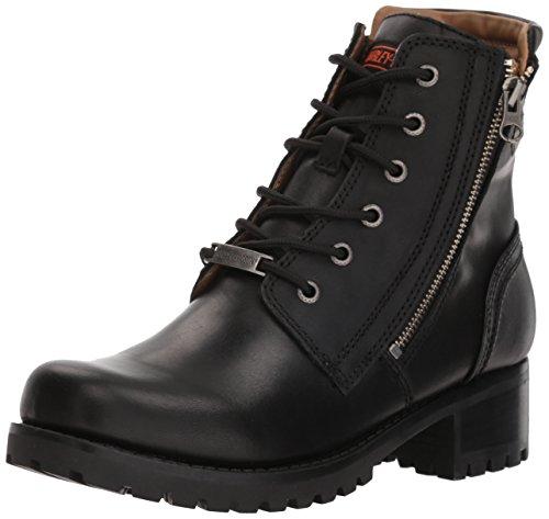 HARLEY-DAVIDSON FOOTWEAR Women's Asher Motorcycle Boot, Black, 7.5 Medium US