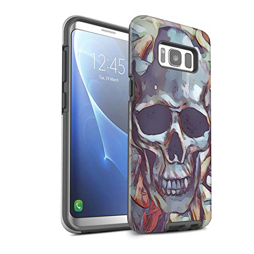 Stuff4® Phone Case/Cover/Skin / SG8P-3DTBG / Day of The Dead Festival Collection Calacas schedel masker