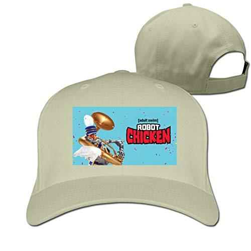VOROY Robot Chickencasquette Sombrero de punto para hombre adulto ligero y fácil de cambiar para estudiantes de la escuela