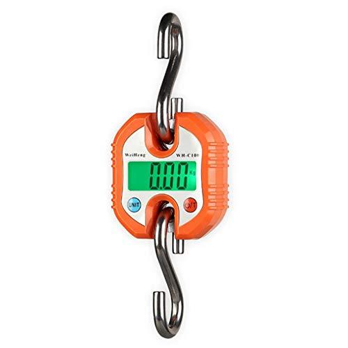 LICHUXIN Mini Escala de grúa Electrónica, Balanza de Paquetes 150kgx0.1kg Báscula de Equipaje Adecuado for Entrega Urgente, Almacén, Etc. (Color : Orange, Size : 150kgx0.1kg)