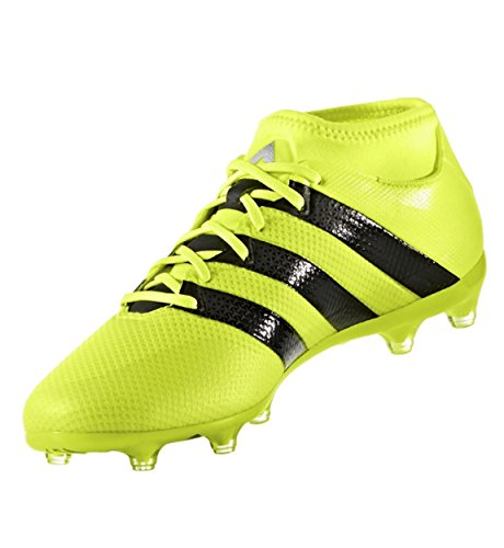 adidas Men's ace 16.2 Primemesh fg/ag Soccer Shoe, Solar Yellow/Black/Metallic Silver, 10.5 M US