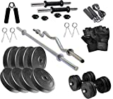 V22 20KG Home Gym Combo, Gym Equipments with PVC Dumbbell Plates,...