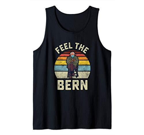 Fühlen Sie die Bern Bernie Sanders Handschuhe Lustige Meme Tank Top