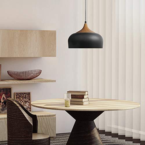 tomons Vintage Lámpara de Techo, Lámpara Colgante Industrial Black&Gold...