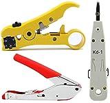 Inditrust Universal Adjustable Coaxial Cable Wire Jacket Stripper Cutter Plier Scissor, Waterproof...