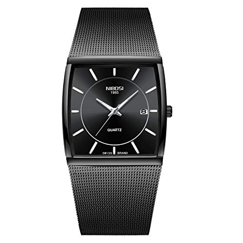 NIBOSI Analogue Men's Watch (Black Dial Black Colored Strap)