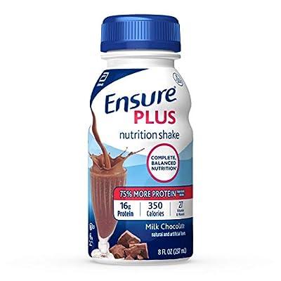 Ensure Plus Nutrition Shake, Milk Chocolate, 8 Ounces, 24 Count