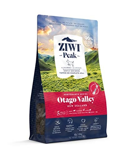 ZIWI Peak Provenance Air-Dried Dog Food – All Natural, High Protein, Grain Free with Superfoods (Otago Valley, 4lb)