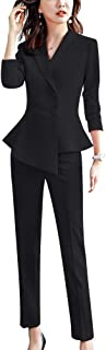 LISUEYNE Women's 2 Pieces Office Blazer Suit Slim Fit Work Suits for Women Blazer Jacket,Pant/Skirt Suits