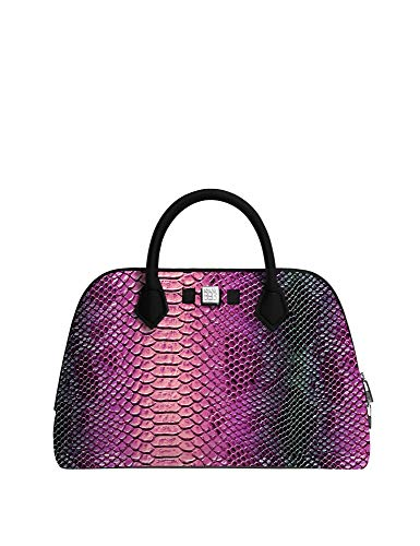 save my bag Princess Midi Women's Python Handbag Pink