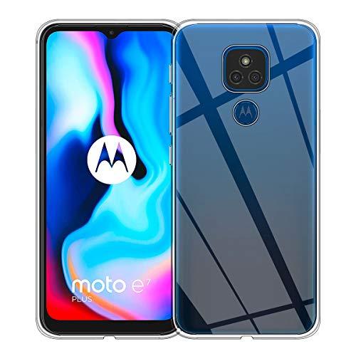 Aerku Funda para Motorola Moto E7 Plus, Silicona [Ultra Slim] Funda Suave TPU Transparente, Resistente Anti-Arañazos Protectora Case Cover para Motorola Moto E7 Plus