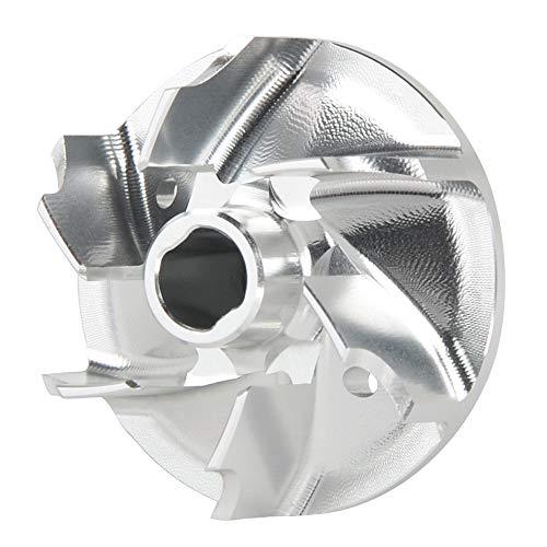 Motorradzubehör Motorrad Wasserpumpe Impeller for Husqvarna 85 125 250 300 350 150 TC TX TE FC FE 2016 2017 2018 2019 Aluminium Blau Laufrad (Color : Silver)