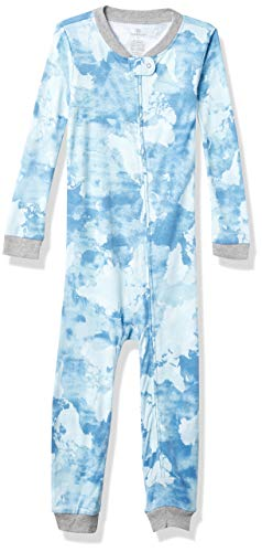 HonestBaby Kids' Organic Cotton Snug-Fit Footless Pajama Baby and Toddler Sleepers, Watercolor World, 5 Years