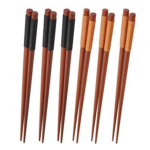 YWYW Juego de Cubiertos de 2 Pares de Palillos y 2 cucharas de Acero - Oro Negro